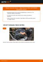 Kā nomainīt: aizmugures bremžu klučus Opel Meriva X03 - nomaiņas ceļvedis