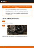 Kā nomainīt: aizmugures atsperes Opel Meriva X03 - nomaiņas ceļvedis