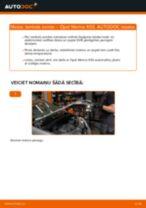 Kā nomainīt: lambda zonde Opel Meriva X03 - nomaiņas ceļvedis