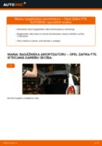 OPEL ZAFIRA TOURER C (P12) darbnīcas rokasgrāmata