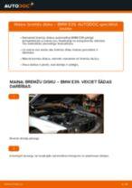 Kā nomainīt: priekšas bremžu diskus BMW E39 - nomaiņas ceļvedis