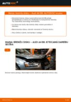 Kā nomainīt: aizmugures bremžu diskus Audi A4 B8 - nomaiņas ceļvedis