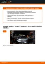 Soli-pa-solim PDF apmācība kā nomaināms BMW 1 Coupe (E82) Bremžu diski