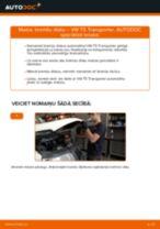 Kā nomainīt un noregulēt Bremžu diski VW TRANSPORTER: pdf ceļvedis