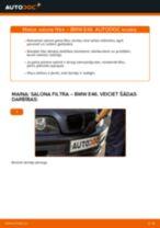 Kā nomainīt Salona filtrs BMW 3 (E46) - instrukcijas tiešsaistes