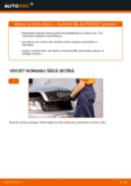 Kā nomainīt: priekšas bremžu klučus Audi A4 B6 - nomaiņas ceļvedis