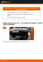 Kā nomainīt: eļļas un filtru VW Passat B5 Variant benzīns - nomaiņas ceļvedis