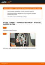 Kā nomainīt: priekšas atsperes VW Passat B5 Variant benzīns - nomaiņas ceļvedis