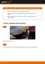 Kā nomainīt: eļļas un filtru Opel Corsa C benzīns - nomaiņas ceļvedis