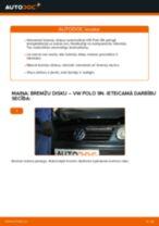 VW POLO (9N_) Bremžu diski uzstādīšana - soli-pa-solim pamācības