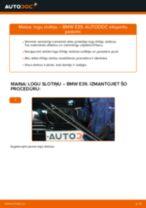 Kā nomainīt: priekšas logu slotiņas BMW E39 - nomaiņas ceļvedis