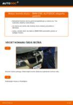 Kā nomainīt aizmugurē un priekšā Bremžu uzlikas BMW 3 (E90) - instrukcijas tiešsaistes