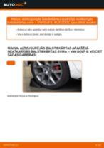 Kā nomainīt: aizmugurējās balstiekārtas apakšējā neatkarīgās balstiekārtas svira VW Golf 6 - nomaiņas ceļvedis