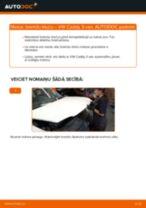 VW CADDY Bremžu uzlikas maiņa: bezmaksas pdf