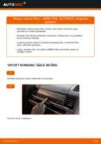 Kā nomainīt: salona gaisa filtru BMW E36 - nomaiņas ceļvedis