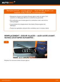 Comment effectuer un remplacement de Essuie-Glaces sur 1.9 TDI Audi A4 B5 Avant