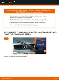 How to carry out replacement: Wiper Blades on 1.9 TDI Audi A4 B5 Avant