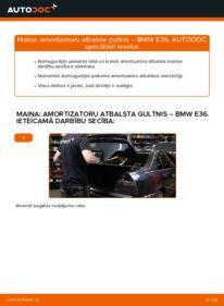 Kā veikt nomaiņu: BMW 3 SERIES Amortizatoru Atbalsta Gultņi