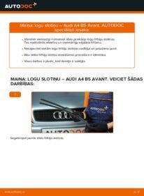 Kā veikt nomaiņu: AUDI A4 Stikla tīrītāja slotiņa