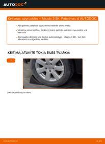Kaip atlikti keitimą: 1.6 Mazda 3 Sedanas Spyruoklės