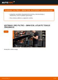 Kaip atlikti keitimą: 320i 2.0 BMW E36 Oro filtras