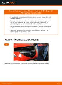 Cum să efectuați înlocuirea: Disc frana la 1.6 Mazda 3 Sedan