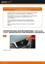 Πώς να αλλάξετε φίλτρο καμπίνας σε Audi A4 B5 Avant - Οδηγίες αντικατάστασης