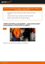 Hogyan cseréje és állítsuk be Légmennyiségmérő AUDI A4: pdf útmutató