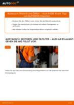 Wie Audi A4 B5 Avant Motoröl und Ölfilter wechseln - Anleitung