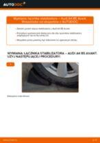 Wymiana Drążek skrętny tylne lewy AUDI A4 Avant (8D5, B5): poradnik pdf
