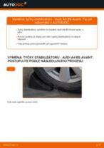 Instalace Hlavni brzdovy valec AUDI A4 Avant (8D5, B5) - příručky krok za krokem