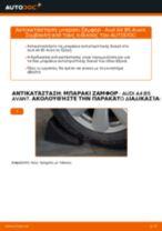 Αντικατάσταση Ακρα ζαμφορ εμπρος αριστερά AUDI μόνοι σας - online εγχειρίδια pdf