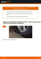 Kako zamenjati avtodel končnik stabilizatorja spredaj na avtu Audi A4 B5 Avant – vodnik menjave