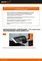 Πώς να αλλάξετε δισκόπλακες εμπρός σε Audi A4 B5 Avant - Οδηγίες αντικατάστασης