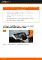 Internetinis vadovas, kaip pačiam pakeisti Stabdžių diskas ant AUDI e-tron Sportback (GEA)