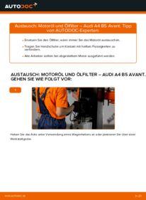 Wie der Wechsel durchführt wird: Ölfilter 1.9 TDI Audi A4 B5 Avant tauschen
