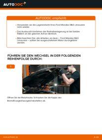Wie der Wechsel durchführt wird: Radlager 2.0 TDCi Ford Mondeo mk3 Limousine tauschen