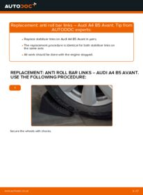 How to carry out replacement: Anti Roll Bar Links on 1.9 TDI Audi A4 B5 Avant