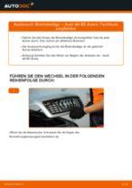 Wie Bremsklötze AUDI A4 austauschen und anpassen: PDF-Anweisung
