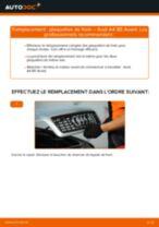 Remplacement de Jeu de plaquettes de frein sur AUDI A4 Avant (8D5, B5) : trucs et astuces