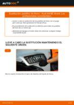 Cómo cambiar: pastillas de freno de la parte trasera - Audi A4 B5 Avant | Guía de sustitución