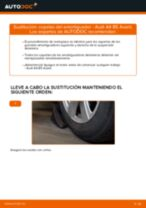 Cómo cambiar: copelas del amortiguador de la parte delantera - Audi A4 B5 Avant | Guía de sustitución