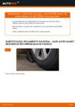 Como mudar rolamento da roda da parte dianteira em Audi A4 B5 Avant - guia de substituição