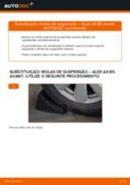 Como mudar molas de suspensão da parte traseira em Audi A4 B5 Avant - guia de substituição