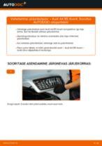 AUDI A4 Avant (8D5, B5) vahetada Piduriketas eesmine ja tagumine: käsiraamatute pdf