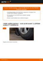 Elülső kerékcsapágy-csere Audi A4 B5 Avant gépkocsin – Útmutató