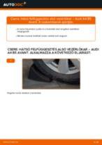 Hátsó felfüggesztés alsó vezérlőkar-csere Audi A4 B5 Avant gépkocsin – Útmutató
