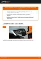 Tiešsaistes bezmaksas instrukcijas kā atjaunināt Bremžu uzlikas AUDI A4 Avant (8D5, B5)