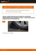 Kā nomainīt un noregulēt Ķīļrievu siksna AUDI A4: pdf ceļvedis