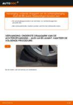Hoe onderste draagarm van de achterophanging vervangen bij een Audi A4 B5 Avant – vervangingshandleiding
